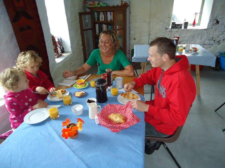 Big Barn Breakfast - Family Enjoying